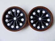 Teak and Ceramic Coasters