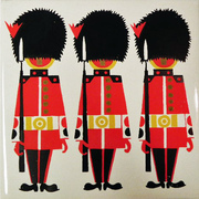 Vintage Kenneth Townsend Scenes of London Grenadier Guards British Soldiers Tile No 30