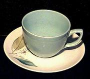 Retro 'Biscayne' Cup and Saucer by Paden City Pottery