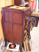 Victrola with records..$250