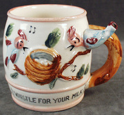 childs mug- all gone, birds, whistle