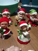 Vintage Lefton and Homco Christmas figurines