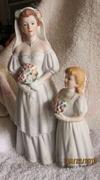 Porcelain Bride & Flower Girl Figurine -1405