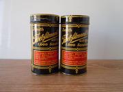 SOLD Vintage 1920s Art Deco Tin Boxes Containers Zenith Almond Furniture Polish Wood Polish Oak Polish Mahogany Polish