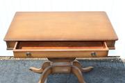 Vintage 1940's Mahogany Mersman Console Entry Harp Lyre Table