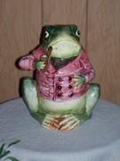 Frog Majolica Tobacco Jar   1800s
