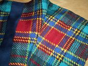 Vintage Adrienne Vittadini Large Square Plaid Silk Scarf