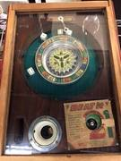 """Vintage """"Beat It"""" Roulette and Dice Gumball Machine"""