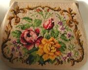 Vintage Beige Needlepoint Handbag