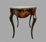 Italian Marquetry Console Table