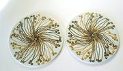 Pair of Royal Copenhagen Porcelain Trivets