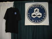 Gen Con Indy Day 1 Collins Epic Wargames Banner and Shirt