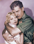 John Gilbert and Mary Nolan passionately embrace in DESERT NIGHTS (1929).