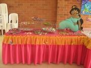 Fiesta princesas disney - decoracion mesa dulce