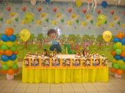 Go Diego Go decoración de mesa
