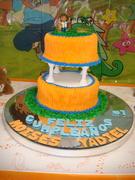 decoracion de pastel - cake go Diego go