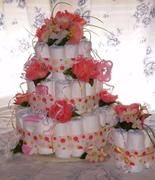 DIAPER CAKE -FLOWERS
