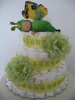 DIAPER CAKE BUTTERFLY-FLOWER