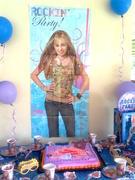 Fiesta Hannah Montana decoracion de mesa