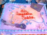 Fiesta Hannah Montana decoracion de torta