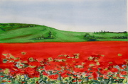 Tuscany Pastel and watercolor