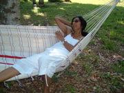 Izzat's Mom - Moni - relaxing in his hammock