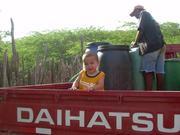 Mateo at Abuela's farm