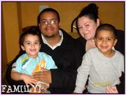 My hubby, son, step son and I