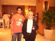 Arthur Weiss at Novotel, Mumbai, with a budding Corporate Warrior
