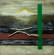 Seascape with green appearance