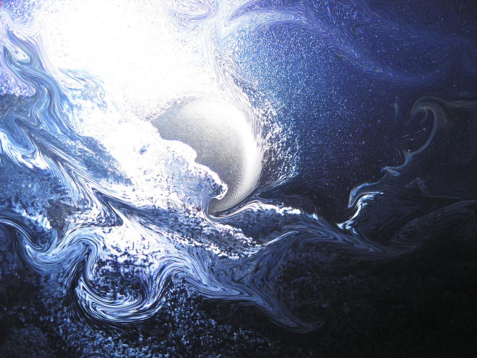 Blue Moon Bathing
