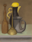 Still Life with Black Pitcher and Lemon