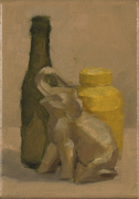 Still Life with  Elephant and Bottle