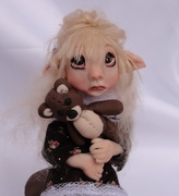 Sad Little Elf Girl - Art Sculpture
