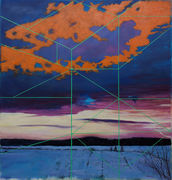 """Rational space with winter sky"" 2012"