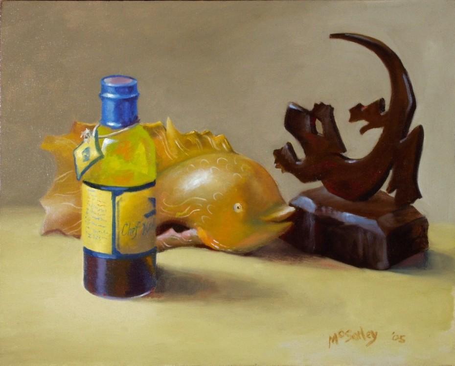 Fish, Oil, Gecko