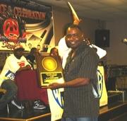 DJ Cut Masta Mitch Accepting his Award of Appreciation