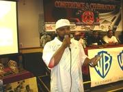 DJ Centipede accepting his  25 Year Award