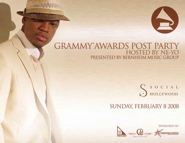 Ne-Yo Official Grammy Flyer 09 front