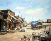 Fishing village  IX