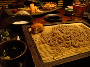 iced buckwheat noodles in Tokyo