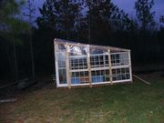 Greenhouse from recycled windows