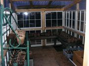 Greenhouse from recycled windows-inside