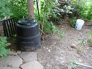 composter and 5-gallon pee bucket