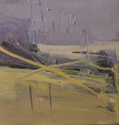 Gestural Landscape in Violet