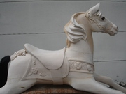 Carved wooden horse by Tracy Kochanski