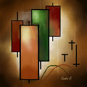 Japanese Candlestick Pattern Red and green candles