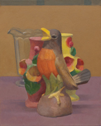 Still Life with a Robin and Vases
