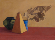 Still Life with a Metronome and Dry Leaves