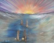 Sunset on the Bay (3D Art)